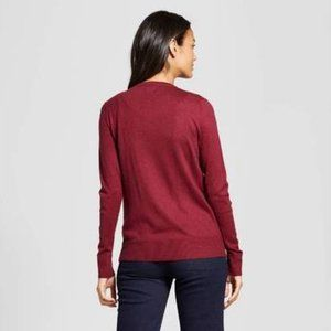 a new day Sweaters - A New Day Cardigan Embellished Allover Gem Maroon